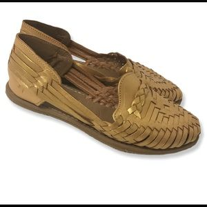 Huaraches Leather Gold Sandals BOHO Made in Mexico